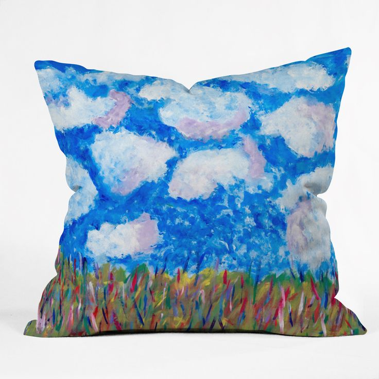 Fresh Artists Blue Sky Throw Pillow | DENY Designs Home Accessories