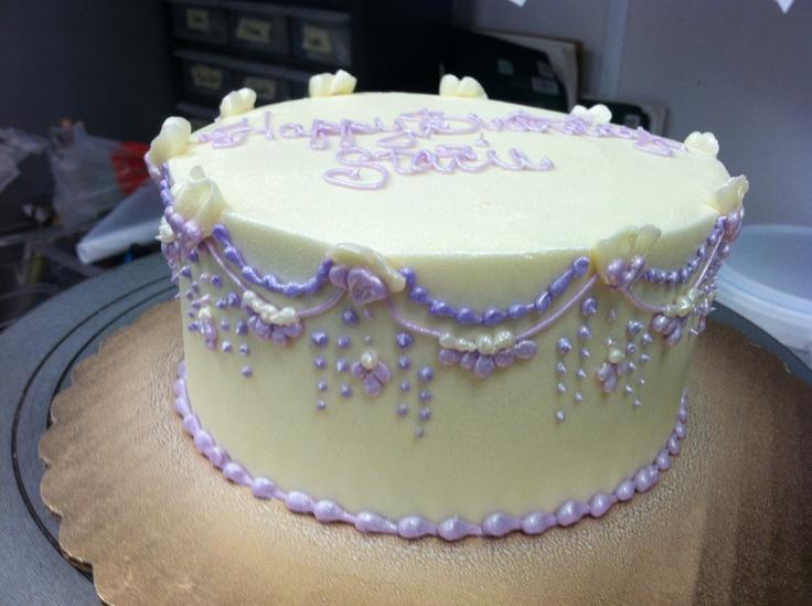 Buttercream Cake Designs Birthday : Purple buttercream Birthday cake Cake decorating Pinterest
