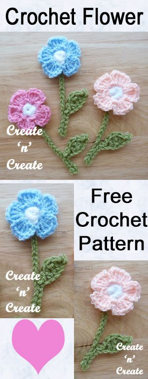 Pretty crochet flower motif, free crochet pattern to use as an embellishment for things around the home. #crochet