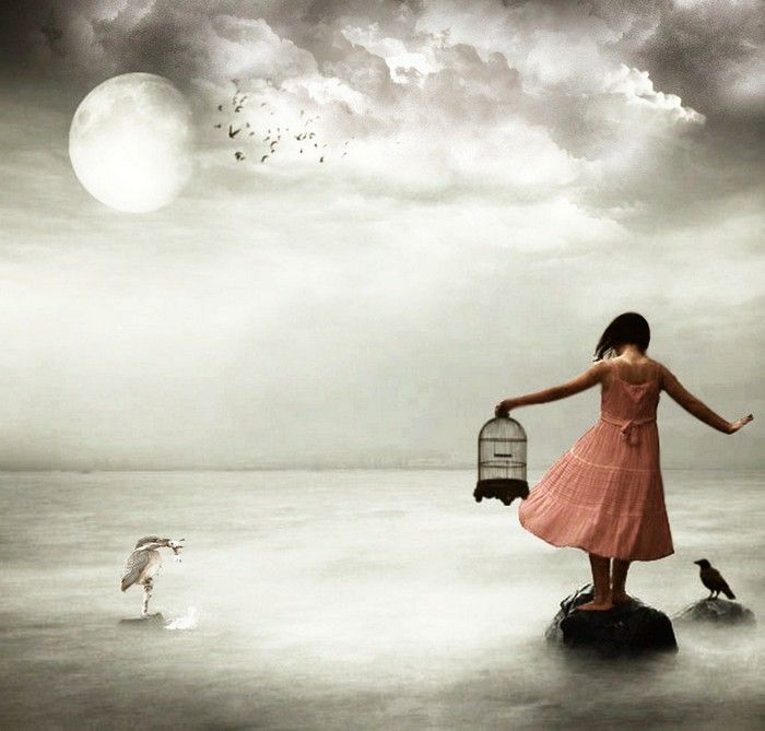 Love this shot!: Photomontage Inspiration, Photographers Creative, The Artists, Art Photography, New Life, Surrealism Photography, Evoc Photography, Free Moon, The Birdcages