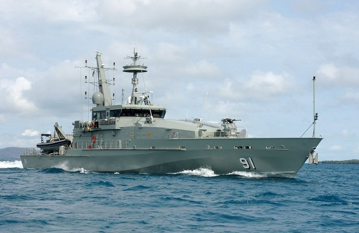 HMAS Bundaberg (ACPB 91), named after the city of Bundaberg, Queensland, is an Armidale class patrol boat of the Royal Australian Navy (RAN). She was constructed by Austal at their shipyard in Henderson, Western Australia. She was commissioned into the RAN in her namesake city on 03 March 2007.