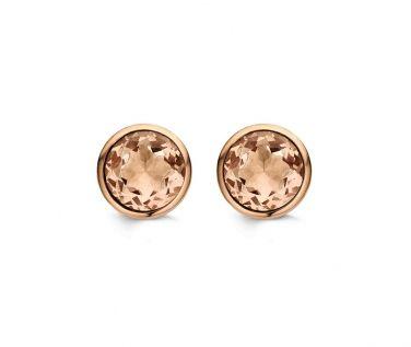 Ti Sento Champagne & Rose Gold Stud Earrings £55