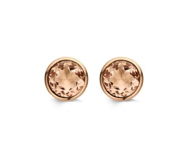 Ti Sento Champagne & Rose Gold Stud Earrings £55
