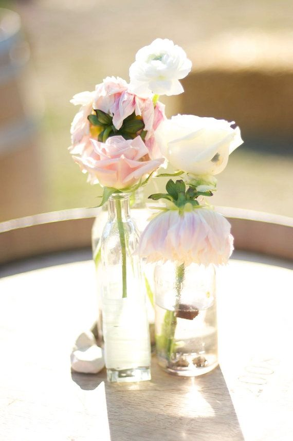 Pretty In Pink 6 Wedding Aisle Centerpiece Bud Vases Or