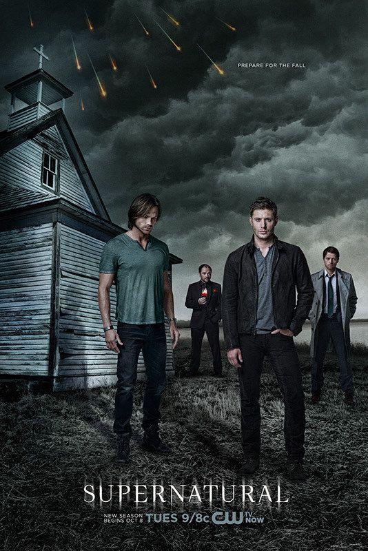 Pôster da 9ª temporada de Supernatural traz Winchesters, Castiel e Crowley - Minha Série