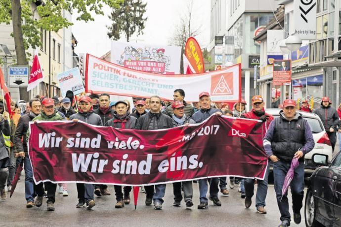 1.Mai Demo in Sindelfingen 2017