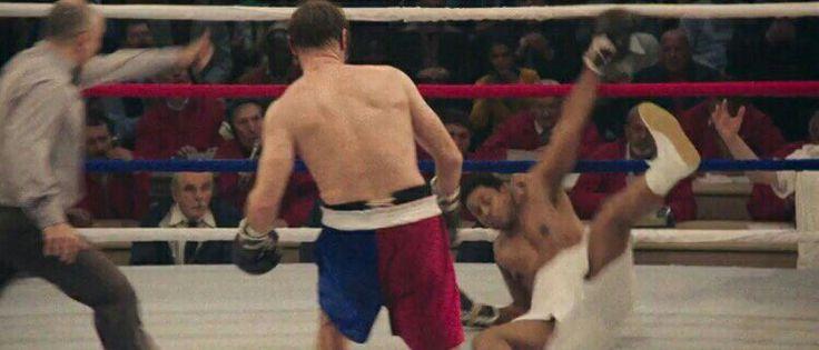 Chuck Wepner knocks down Muhammad Ali during their World Heavyweight Championship fight.
