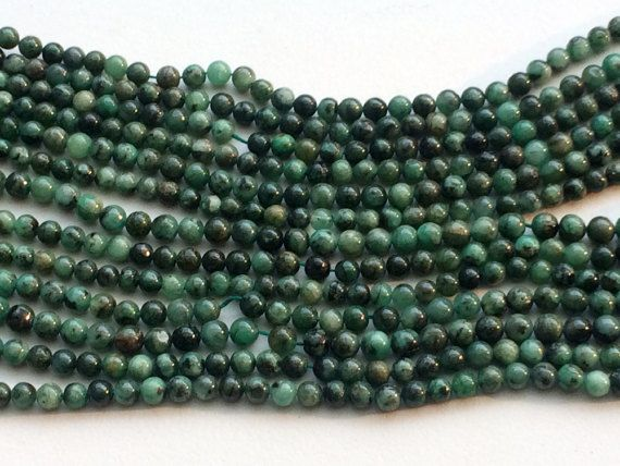 WHOLESALE 5 Strands Emerald Beads Natural Emerald by gemsforjewels