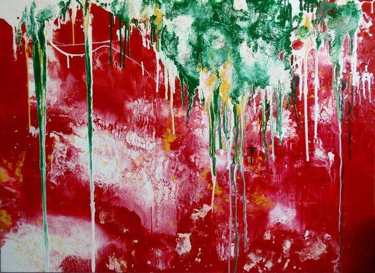 Wandbild «Grapevine» Bild mit Aufhängeset Kunstdruck Leinwand Acryl Forex MK1027