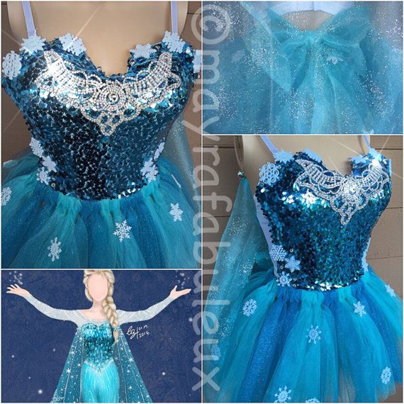 Frozen inspired Outfit Bustier and Tutu with by mayrafabuleux