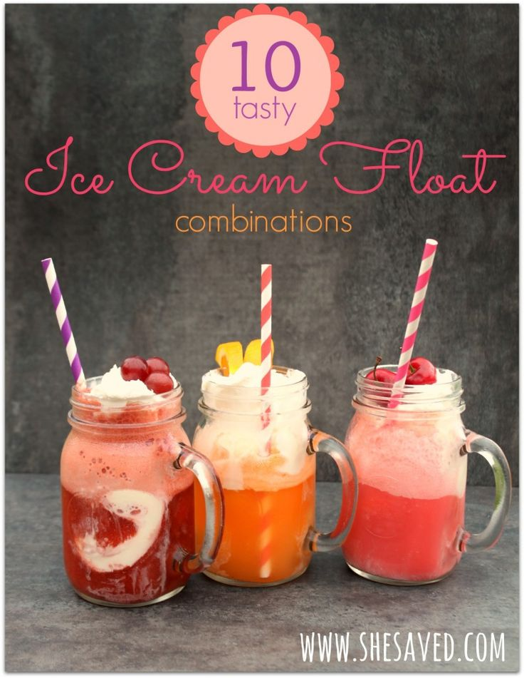 What's more summery than ice cream? How about one of these awesome ice cream float combinations?! They're so quick to make, beautiful and delicious!