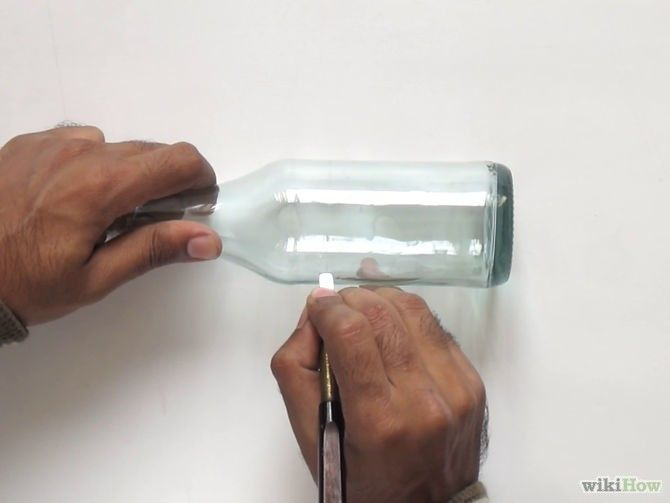 44 simple diy wine bottles crafts and ideas on how to cut for Simple way to cut glass bottles