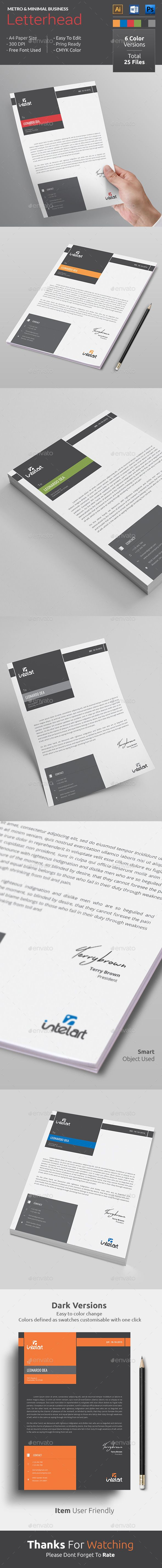 #LetterheadTemplateDesign, awesome for the company letterhead template. Just download and edit, it's that easy. Color versions and word, psd, ai letterhead formats. Download http://graphicriver.net/item/letterhead/13623343?ref=themedevisers