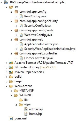 Dinesh on Java: Spring Security Annotation Based Hello World Examp...