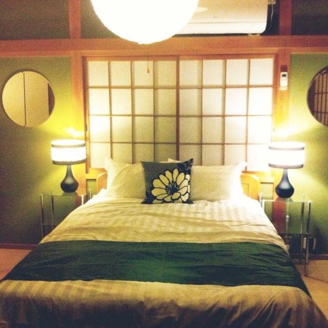 日本家屋/#和室 #土壁 #障子 #畳 #抹茶 /#寝室 #DIY #フォーカルポイント/#ヘッドボード #丸鏡…などのインテリア実例 - 2015-05-19 06:03:45   RoomClip(ルームクリップ)