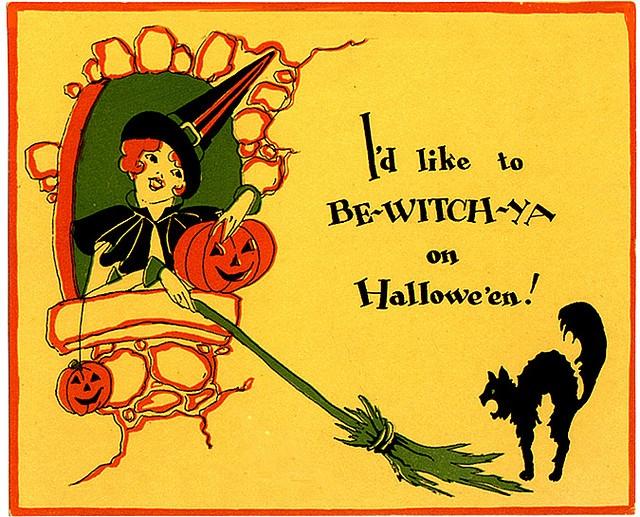 Vintage Halloween Postcard Printable Fairy Furniture You Can Make Yourself