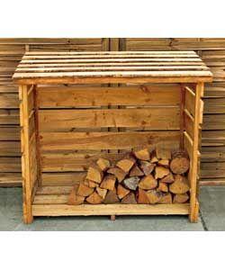 Garden Wooden Log Store.