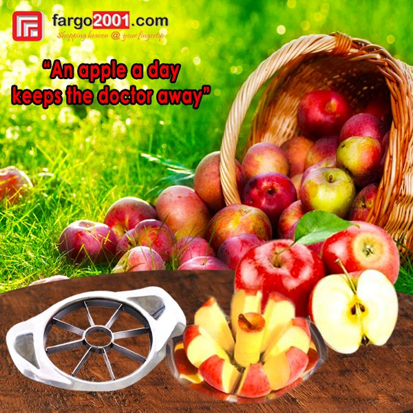 """Stainless Steel Apple Cutter ! """"An apple a day keeps the doctor away"""" http://fargo2001.com/stainless-steel-apple-cutter-1081.html?search=apple"""