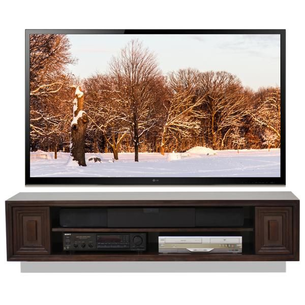 Hollywood Floating Wall Mount TV Stand - Espresso