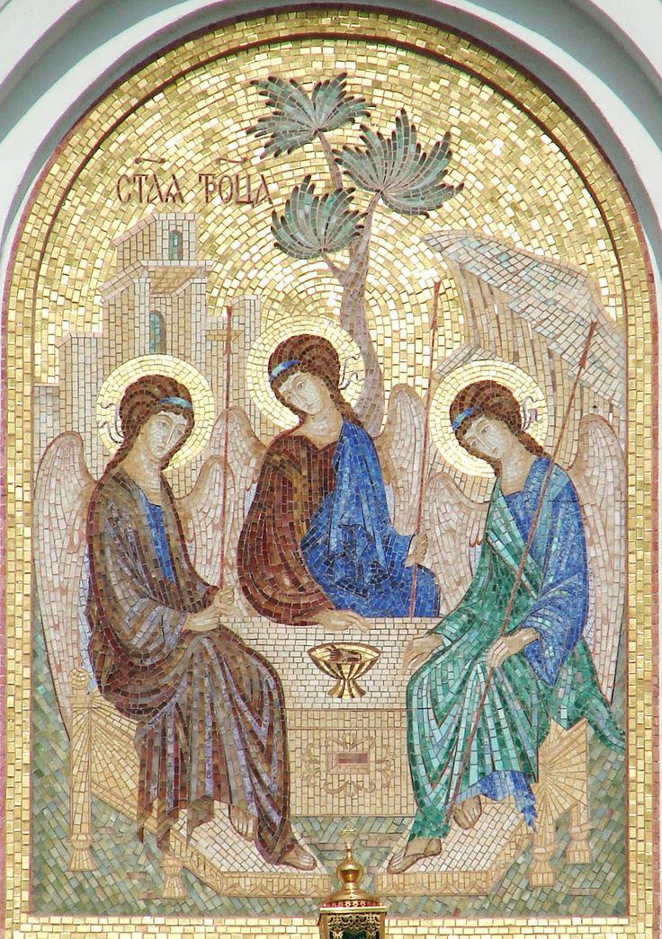 """Флорентийская и римская мозаика - только камень...: """"Троица""""  Троицкий собор Серафимо-Дивеевского мона..."""