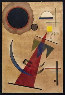 Rot in Spitzform (Rosso a forma appuntita) 1925, Wassily Kandinsky - Irma Bianchi Comunicazione