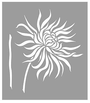 how to make a flower stencil