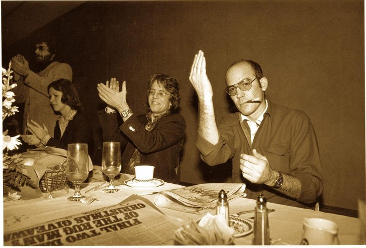 NORML Founder Keith Stroup with Hunter S Thompson and Christie Hefner Circa 1976-77 Washington DC