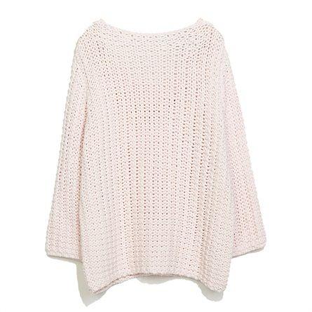 ZARA maglione rosa cipria