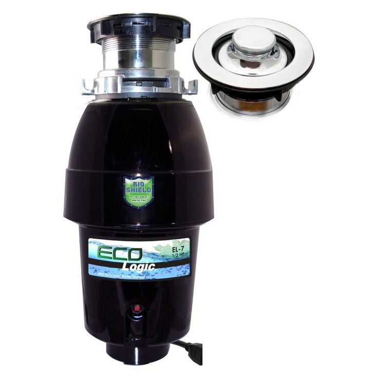 Eco-Logic 7 Mid-Duty 1/2 HP Designer Series Garbage Disposer with Polished Chrome Sink Flange - EL-7-DS-PC