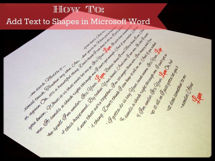Add Text to Shapes in Microsoft Word. Full & EASY Tutorial. Perfect Gift for Valentine's Day