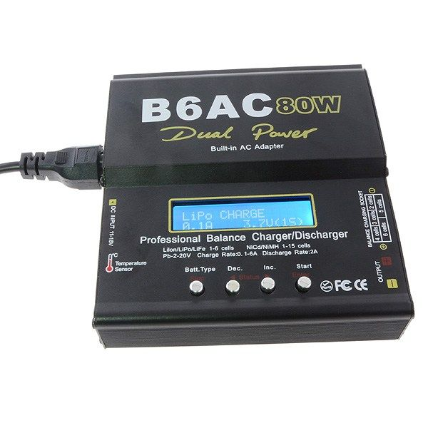 Upgraded B6AC 80W Multi Functional Smart Balance Charger Discharger https://www.fpvbunker.com/product/upgraded-b6ac-80w-multi-functional-smart-balance-charger-discharger/    #fpv