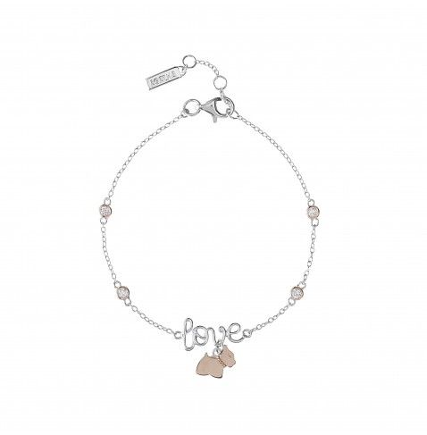 LADY LOVE Bracelet with AGATHA Paris Lady Scottie dog love and flush-set stones from the AGATHA Paris Lady Scottie Collection - NZD $157