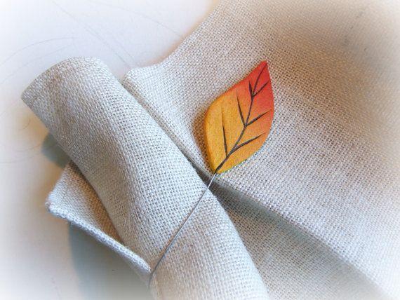 Rustic decor kitchen Autumn curtain tie backs leaf Magnetic