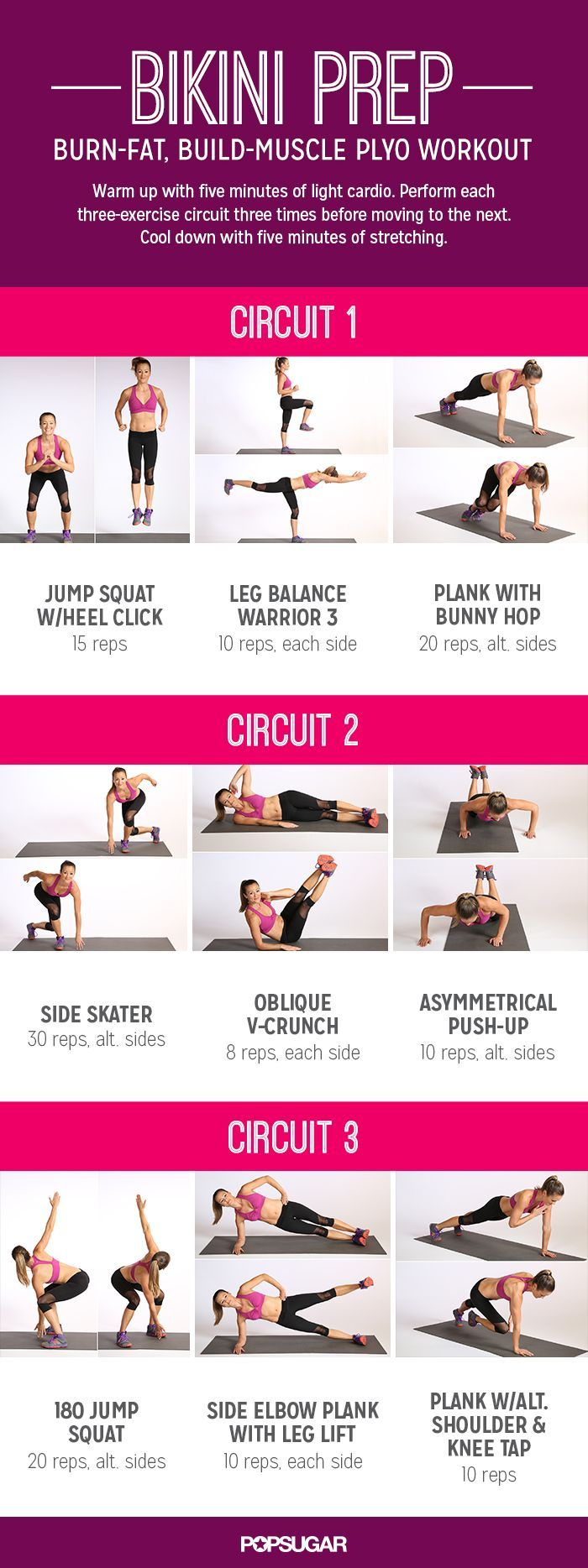 The nine moves in this circuit work your entire body, and half of them are plyo.