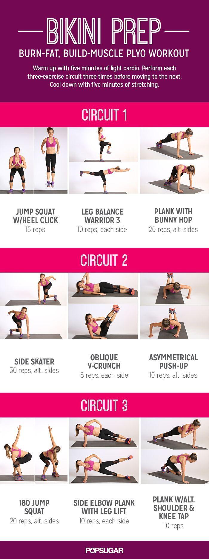 Bikini Plyo Workout Printable