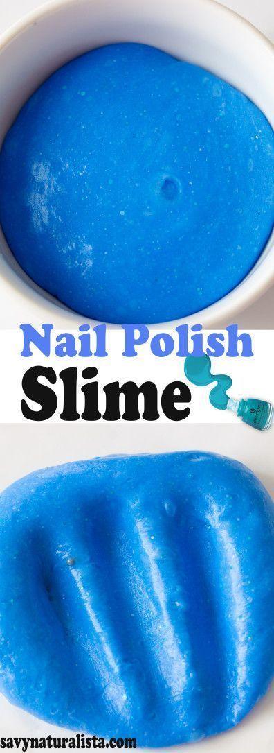Take your old nail polish and make this easy nail polish slime