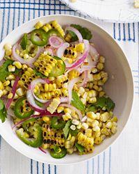 Charred Corn Salad with Mint, Parsley and Cilantro Recipe on Food & Wine