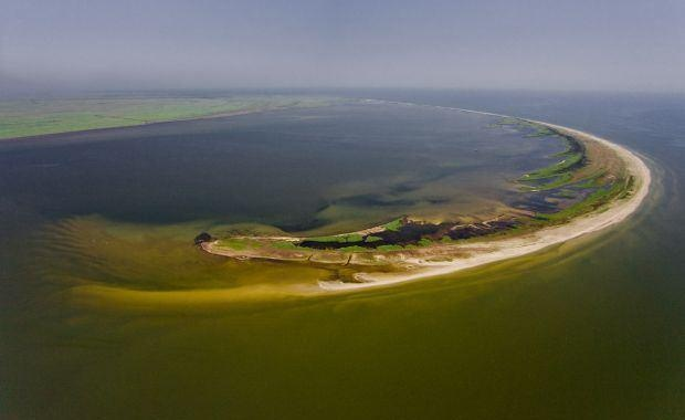 Noul pamant romanesc – insula Sacalin Delta Dunarii Marea Neagra Danube Delta, Romania - Sacalin Island.
