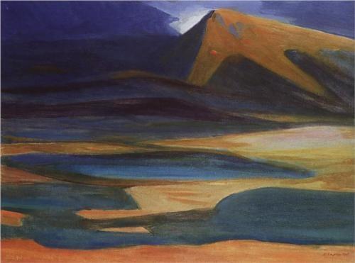 Mountain landscape - Martiros Saryan