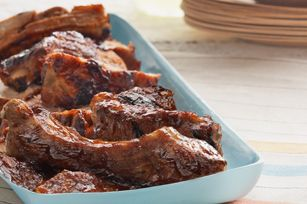 Yummy BBQ ribs - great idea for Father's Day!
