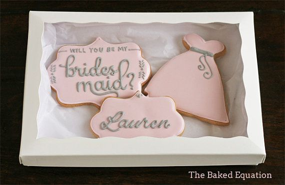 Bridesmaid Gift Set by TheBakedEquation on Etsy, $19.00