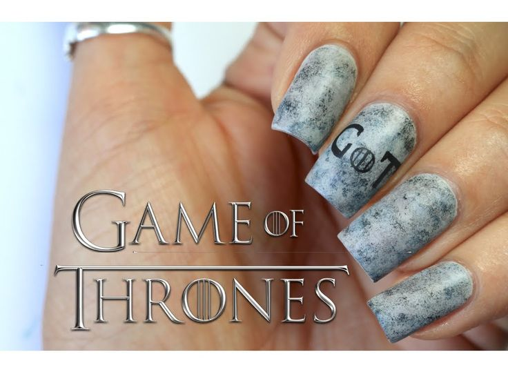 20 best tv show nail art images on pinterest american horror grey game of thrones nail art prinsesfo Gallery