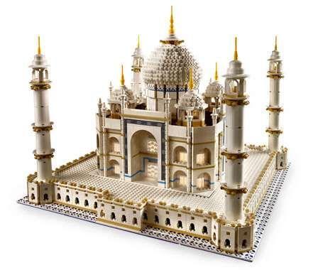 Lego Taj Mahal is Biggest Commercial Lego Set Ever #legodesigns #legocreations trendhunter.com