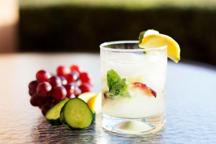 Easy, fresh, cocktail made with grapes, cucumber, lemon, @pinnaclevodka & sparkling lemonade. SO good! #ad #PinnacleCocktailClub