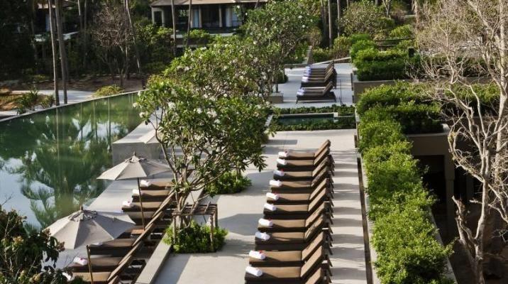 Swimmingpool på Banyan Tree Samui i Thailand