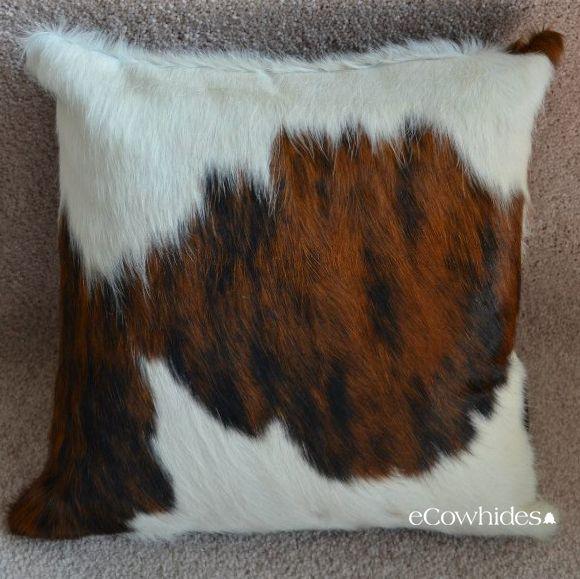TriColor Cowhide Pillow, TriColor Pillow, Cowhide Pillows