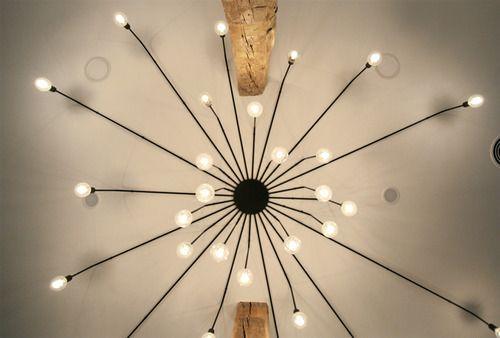 vista de la lámpara expensa de Carpintería Expandida