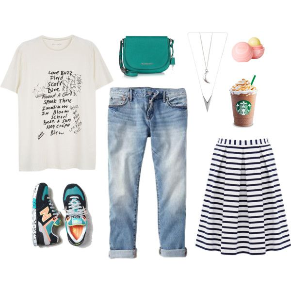 casual set2 by alenaganzhela on Polyvore featuring мода, Gap, Forever New, New Balance, Michael Kors and dELiA*s