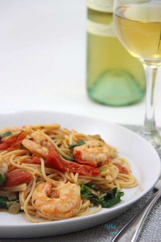 Fresh Spicy Shrimp Pasta @miss_whisk