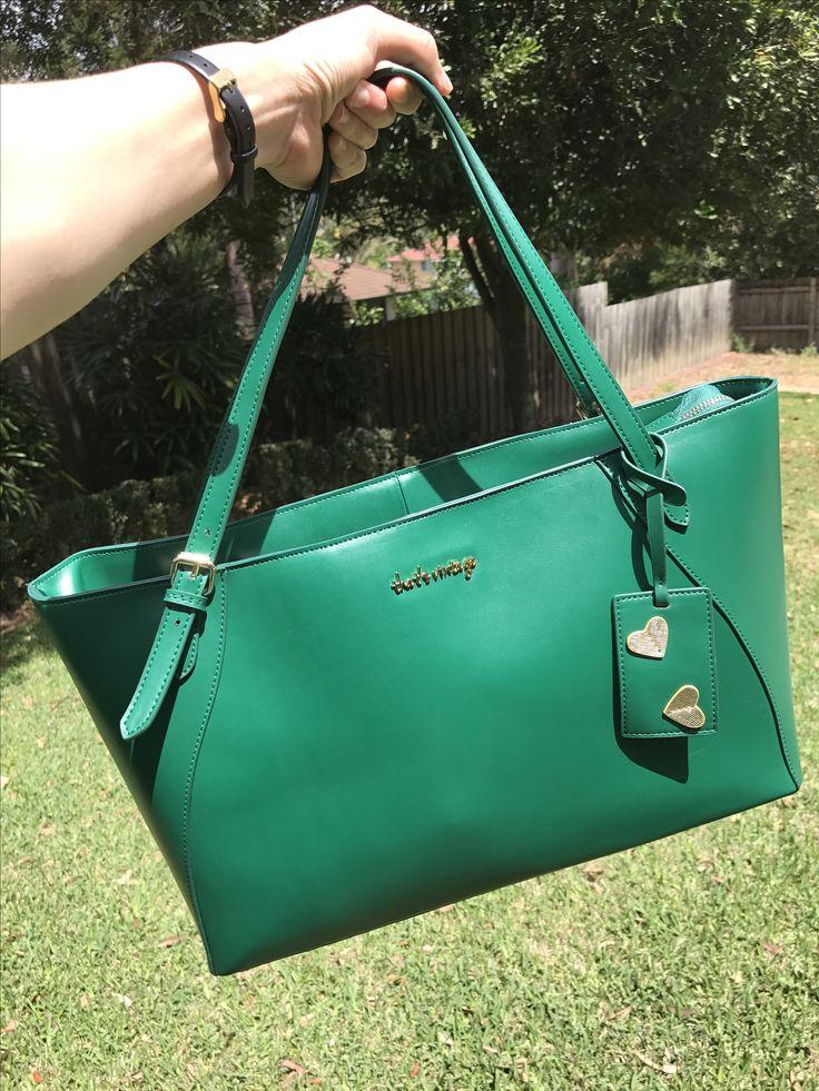 green handbag, leather bag, designer bag, green bag